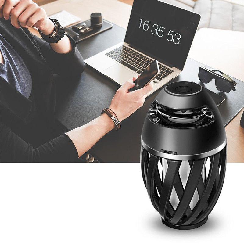 2018 LED-Flammen-Lampen-Bluetooth-Sprecher A1 drahtlose Bluetooth-Sprecher-Subwoofer für iphone X 8 Samsung S8 mit Kleinkasten