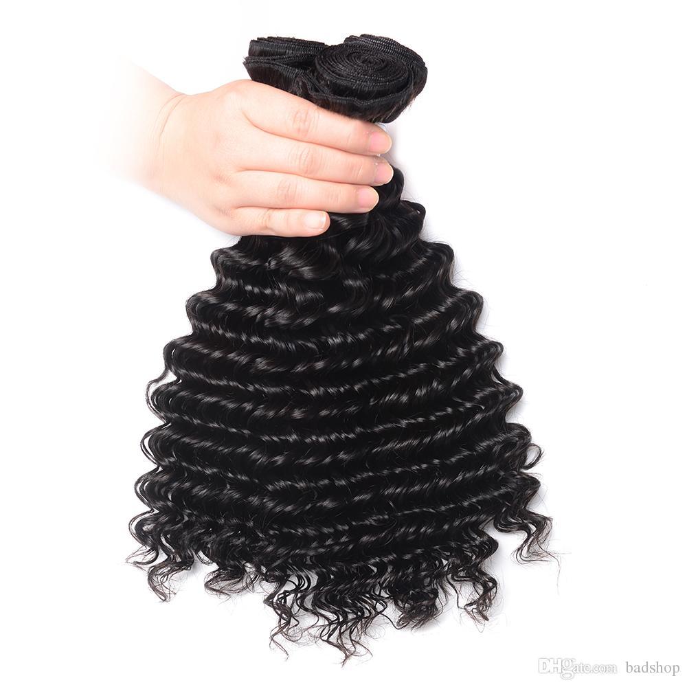 10A Top Grade Mongolian Deep Curly Paquetes de cabello humano 3 pcs por lote Tejido de cabello humano 100 g Extensión de cabello Remy