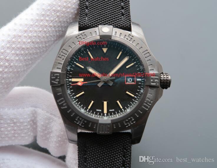 Relojes de pulsera de lujo para hombre 44mm Avenger Blackbird Automático Mecánico Negro Dial V1731110-BD74GCVT para hombres