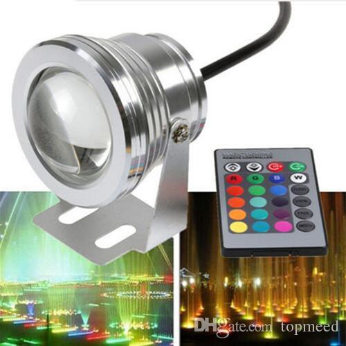 IP65 10W RGB 투광 조명 빛 수중 LED 홍수 조명 수영장 야외 방수 투광 조명 조명 라운드 12V85-265V 볼록 렌즈