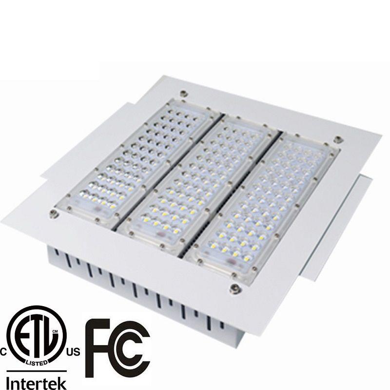 Explosionsgeschützte LED-Überdachungsleuchten 100 W, 120 W, 150 W, 200 W Hochregallampe, Einbau für GAS-Stationsleuchte AC 90-277 V 3 Jahre Garantie