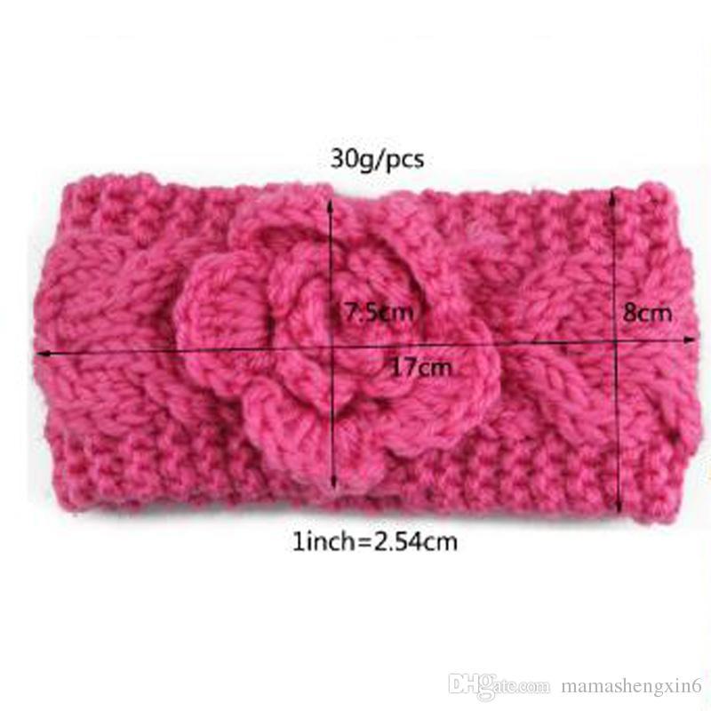 Compre Nuevas Niñas Niños Invierno Big Wool Ganchillo Diademas ...