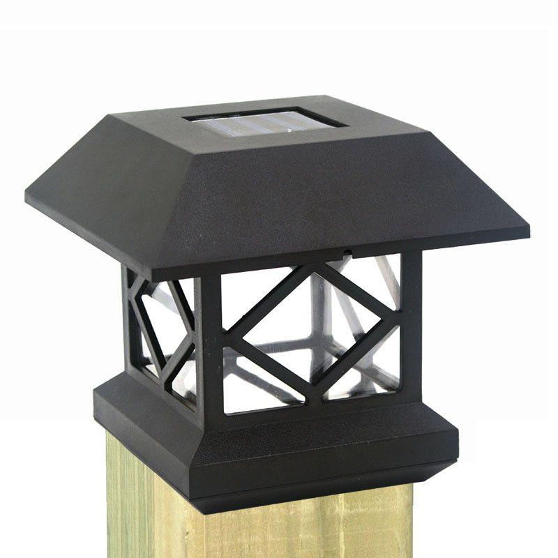 Solare recinto Post Cap Lights Outdoor Garden Solare LED Post Deck Cap Auto Sensor Light Paesaggio lampada