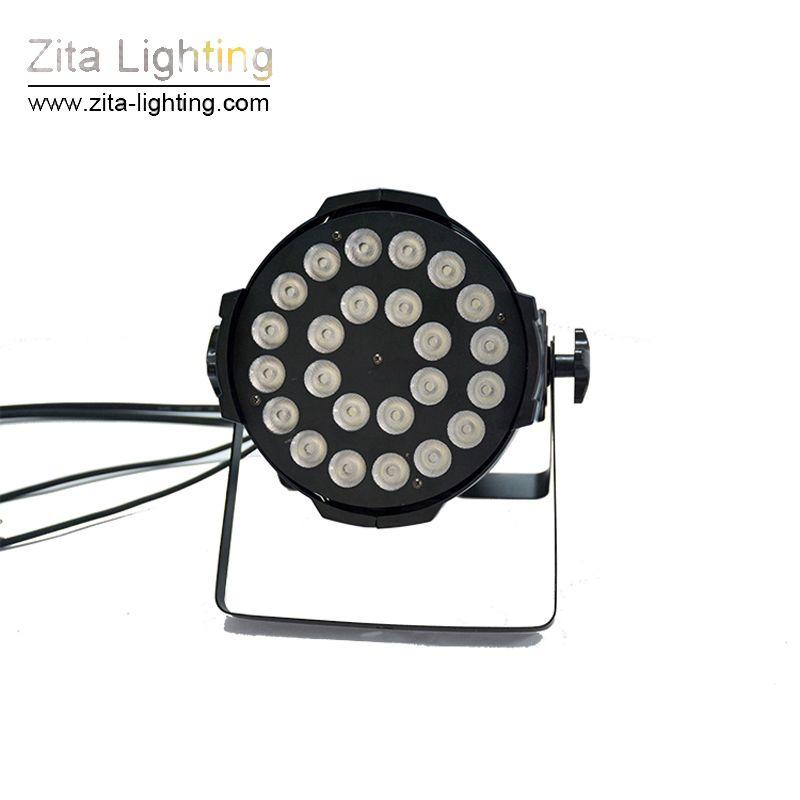 Zita Lighting LED Par Lights Stage Lighting Par64 Wall Washer LED Par Can RGBW 4In1 24X12W DMX512 DJ Disco Building Tower Light Effect