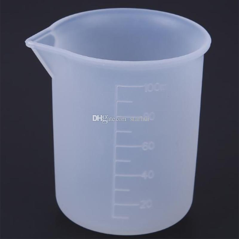 100ml Transparent Measuring Cup With Scale Silicone Measuring Tools For DIY Baking Kitchen Bar Dining Accessories WX9-964