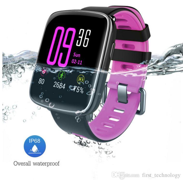 체력 추적기 GV68 스마트 시계 지원 방수 IP68 심박동 메시지 전화 알림 이드 안드로이드에 대한