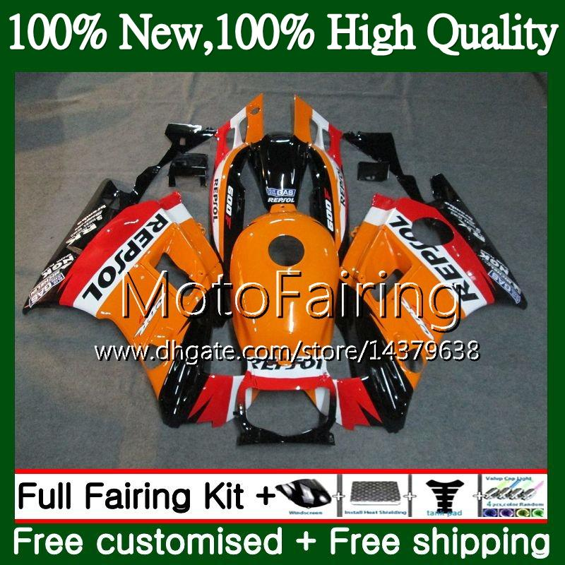 Body Repsol orange Per HONDA CBR 600F2 FS CBR600 F2 91 92 93 94 46MF2 CBR600FS CBR 600 F2 CBR600F2 1991 1992 1993 1994 Carenatura Carrozzeria