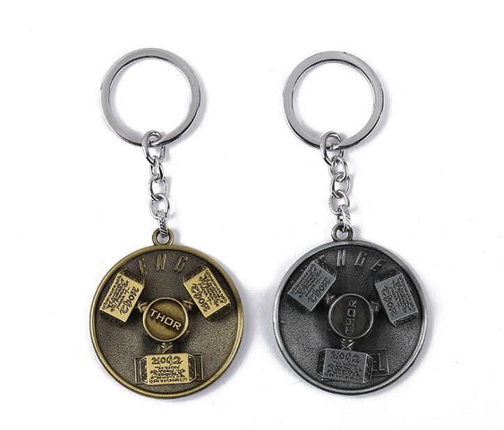 The Avengers Thor Hammer Keychain Metal Pendant Keyring Thor's Hammer Mjolnir Key Chain Keyfob Jewelry
