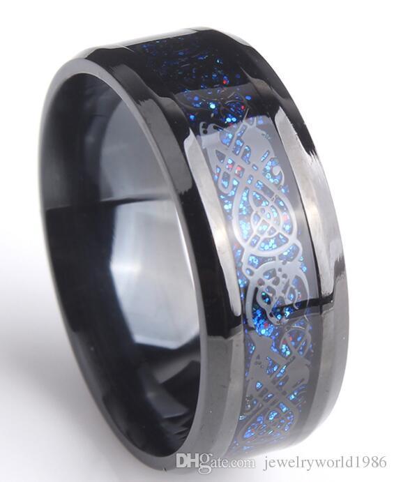 Gratis Verzending Fijnste Tungsten Gold Ring Koop Heren Ring Hot Sales 8mm Moeder Parel Abalone Shell Tungsten Carbide Ring 2 Stuk / Veel