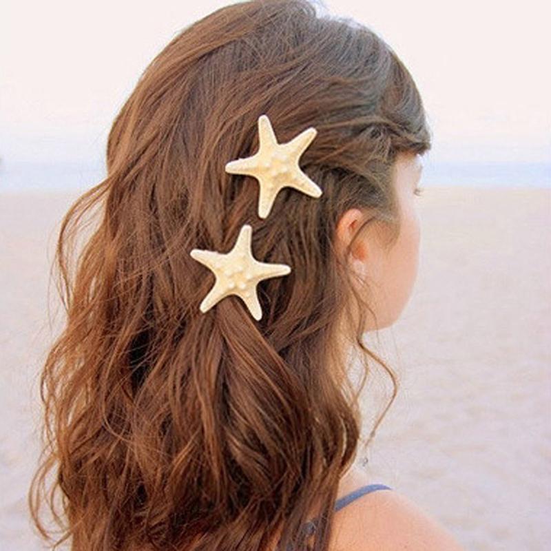 جودة عالية نجم البحر الطبيعي فتاة دبابيس الشعر عصا سيدة الشعر كليب رئيس اكسسوارات الشعر مخلب عصا أغطية الرأس إكسسوارات