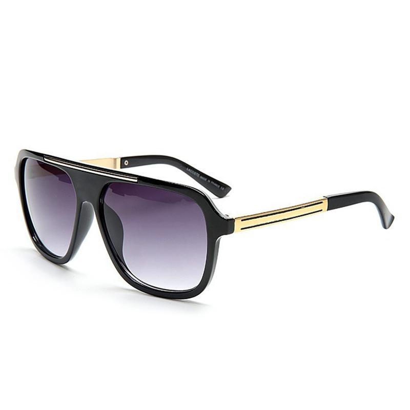 Vazrobe Markemens-Sonnenbrille Original-Sonnenbrille-Männer Steampunk-Sonnenbrillen Mann Vintage-Flat Top Schwarz Großhandel