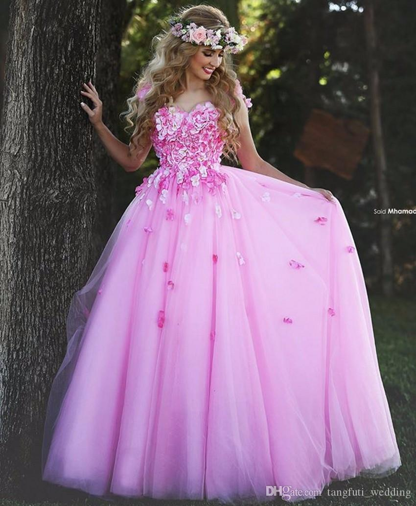 Long Prom Dresses Flowers Fast Shipping Puffy China Tulle Women Party Prom Dress 2018 Formal Evening Gowns vestidos de noche galajurken