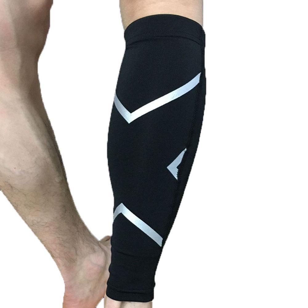 1 زوج العجل ضغط كم كرة القدم كرة القدم الساق شين الحرس واقية العجل الأكمام الدراجات الجري الملحقات