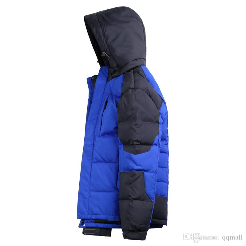 Clothing Men Down Jacket Thick Warm Mens Coat Winter Wellensteyn Jackets Casual Hooded Goose Feather Parkas