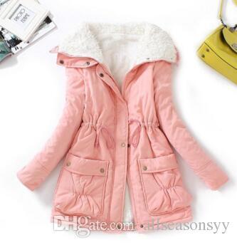 Зимняя куртка дети Новый толстый хлопок мягкий подросток девушки верхняя одежда пальто повседневная отложным воротником дети длинные теплые куртка
