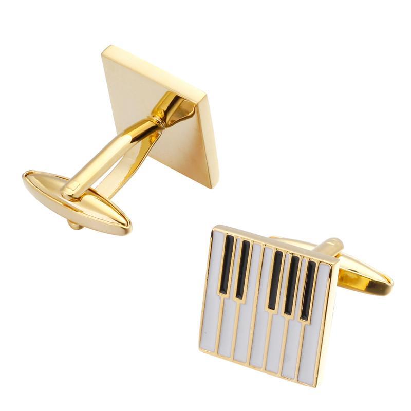 Sax Piyano Keman Kol Düğmeleri Marka Takı Erkekler Gömlek Manşet Kol Düğmeleri 5Pairs Of Müzik Aletleri Müzisyenler Of Moda Müzik Serisi