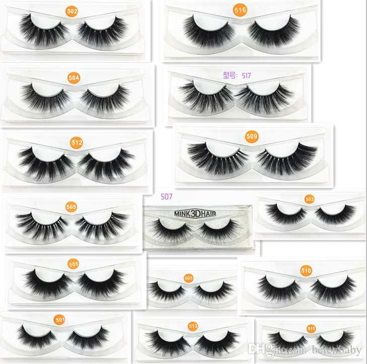 15 styles 3D Mink Eyelashes Eye lash Extension Sexy False Eyelashes Natural Thick Fake Eye lashes Full Strip Mink Eye Lashes