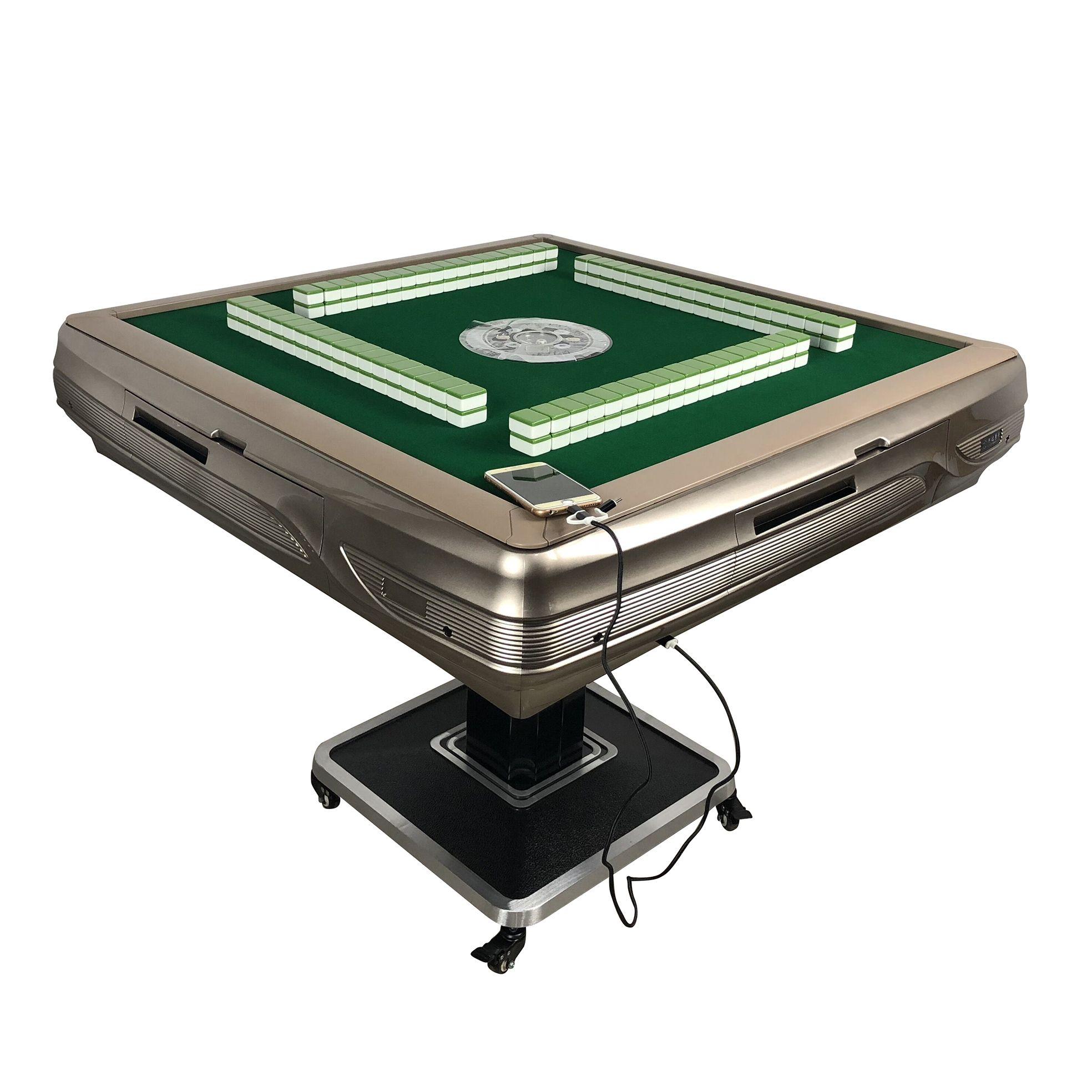 2021 Zeitbegrenzte Top Mode Jogo de xadrez Schachuhr Schach Set Faltbare automatische Mahjong-Tabelle