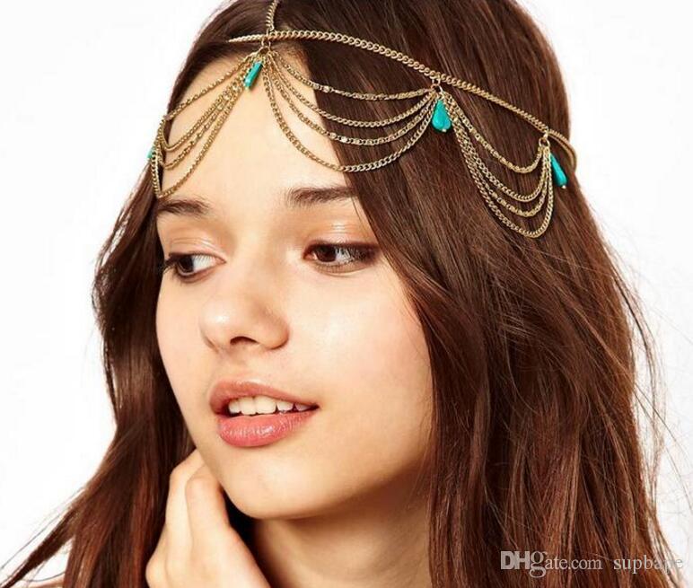 Stile nazionale bohémien con frena turchese Fashionable Fascia Semplice elegante