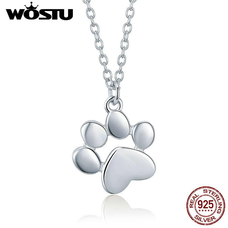 Wholesale Wholesale High Quality 925 Sterling Silver Cute Dog Footprints Link Pendant Necklace For Women Girlfriend Lovely Jewelry Gift Cqn275 Necklaces For Men White Gold Necklace From Zhoukoucharm 17 Dhgate Com
