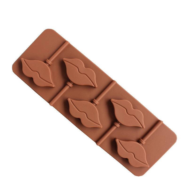 5 ثقوب الشفاه سيليكون مصاصة نموذج diy الشوكولاته العفن أدوات الخبز كعكة تزيين