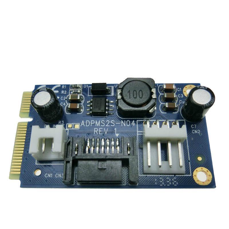 MSATA para placa adaptadora SATA pci-e para placa adaptadora de disco rígido de 3 * sata placa de expansão mSATA SSD
