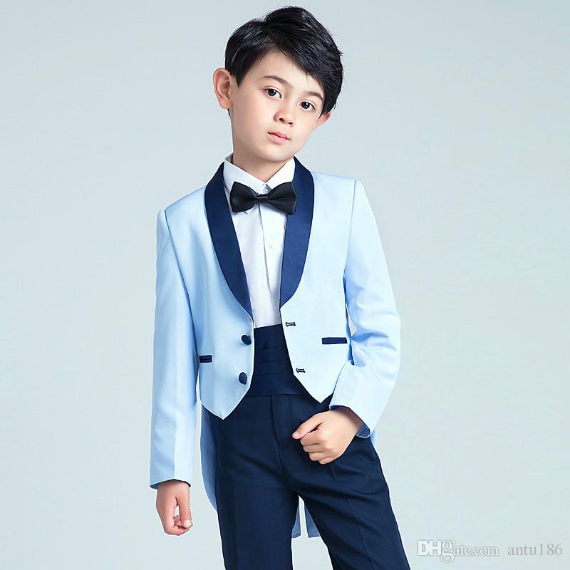Özelleştirilmiş boy yakışıklı takım elbise çocuk smokin takım iki parça bir takım (ceket + pantolon) yeni çocuk parti mezuniyet töreni resmi elbise
