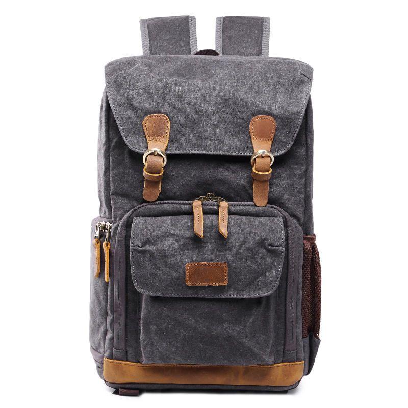 Ударопрочный мешок камеры DSLR SLR рюкзак водонепроницаемый фотографии сумки на ремне рюкзак приливные фотографии воском холст рюкзак