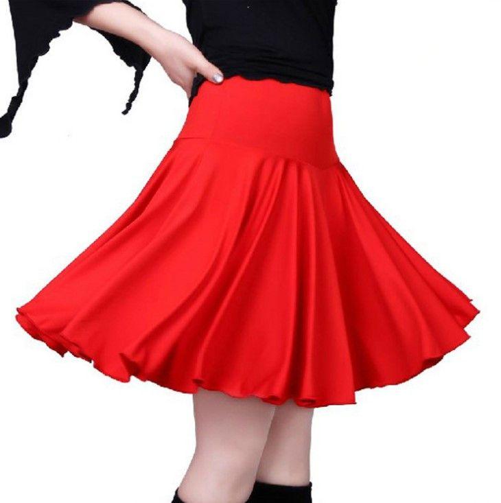 Сцена носить квадратный танцевальный платье одежды большой размер юбка латинский сахар-цвет