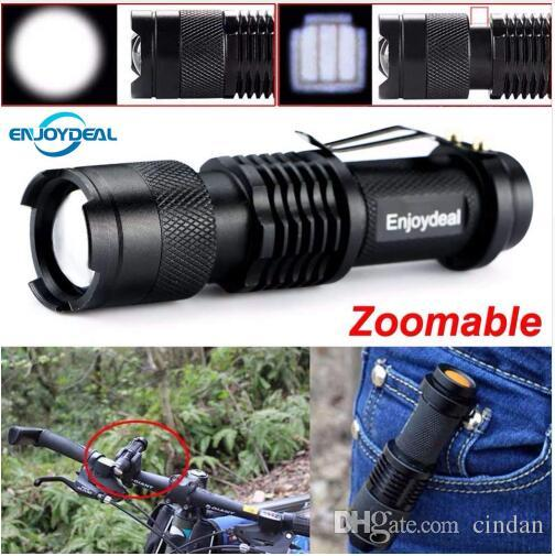 새로운 미니 손전등 2,000 루멘 크리 사람 Q5 LED 토치 AA / 아웃 도어를 들어 14500 조절 줌 초점 토치 램프 Penlight의 방수