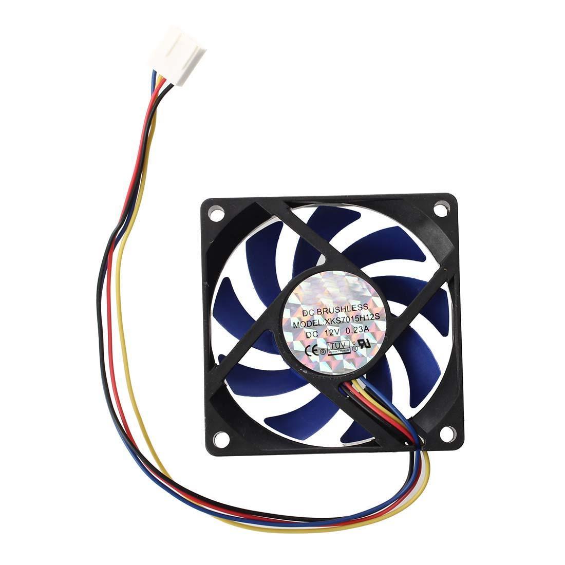 Freeshipping 10pcs 12v DC 32 70mm 4 핀 컴퓨터 케이스 CFM PWM CPU PC 팬 블루 블랙