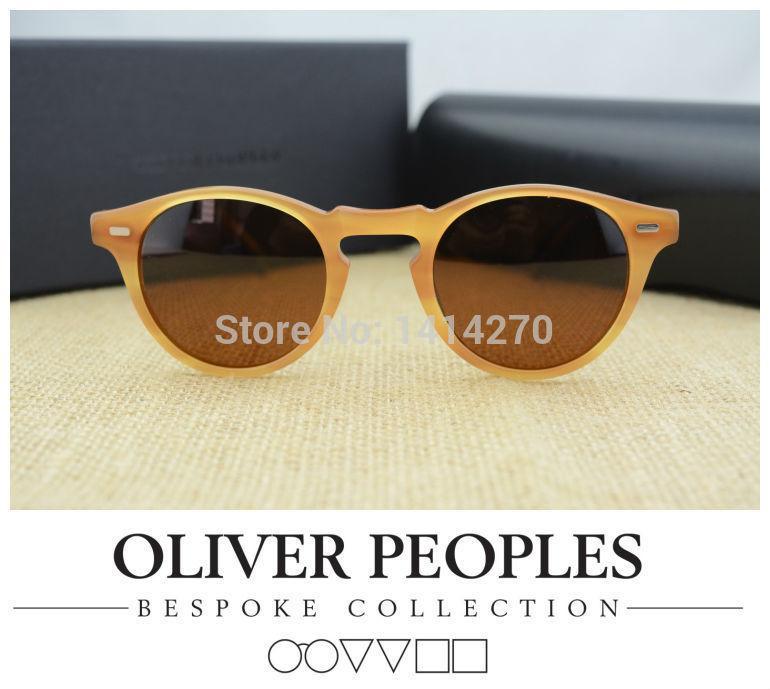 Occhiali da sole vintage da uomo e da donna No BurdenOliver Peoples Gregory Peck5186 occhiali da sole polarizzati design retrò