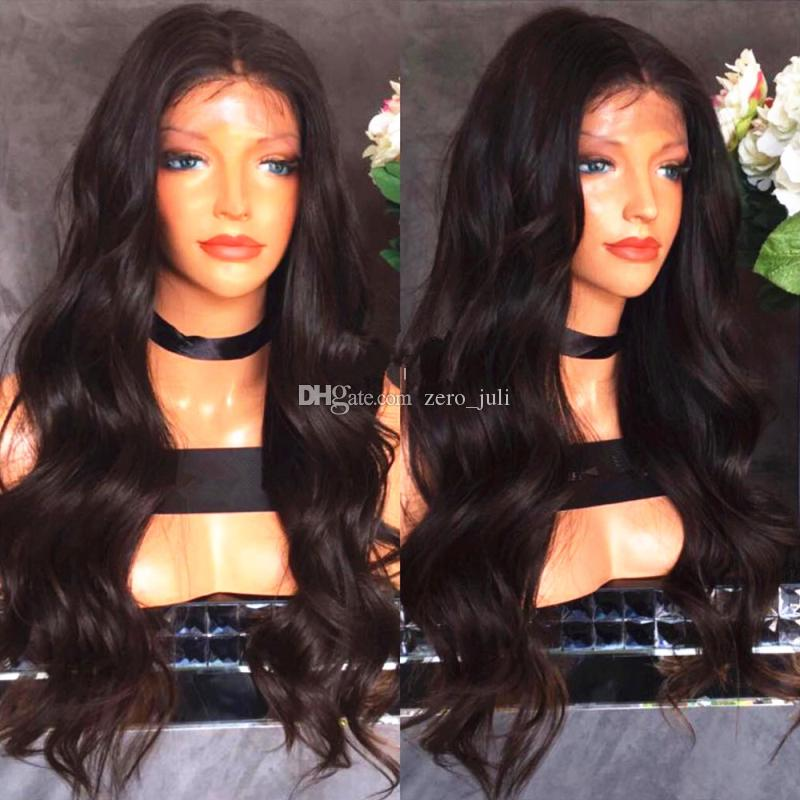 Silk Top Full Lace Wigs Natural Wave Lace Front Human Hair Wigs 8A Unprocessed Brazilian Silk Base Wig Black Women With Baby Hair