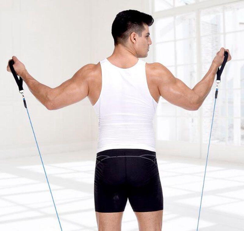 11Pcs في مجموعة واحدة من مجموعات مقاومة اللياقة البدنية تمرن أنابيب التدريب المطاطي العملي تمارين اليوغا سحب الحبال