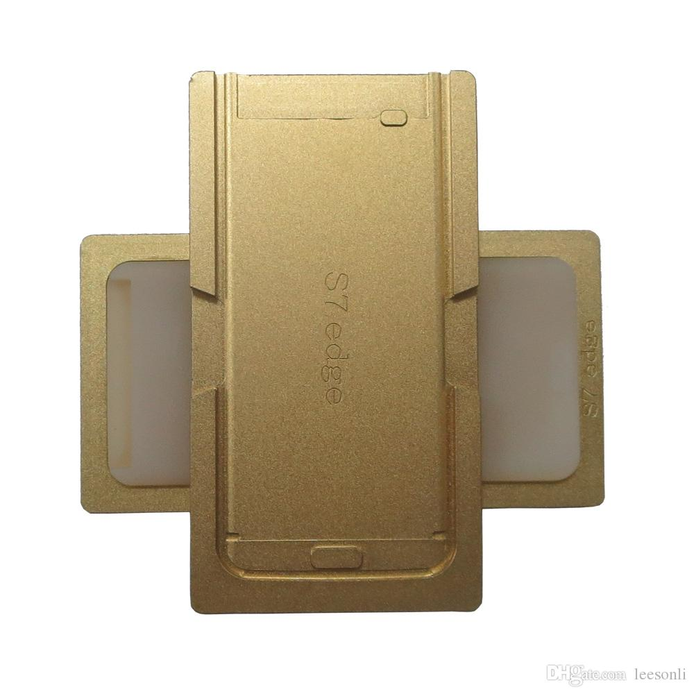 Aluminium Alignment + Laminierform Präzise Form für Samsung Galaxy S6 Kante / S6 Rand plus / S7 Rand LCD-Bildschirm Repair Tool Gold Farbe