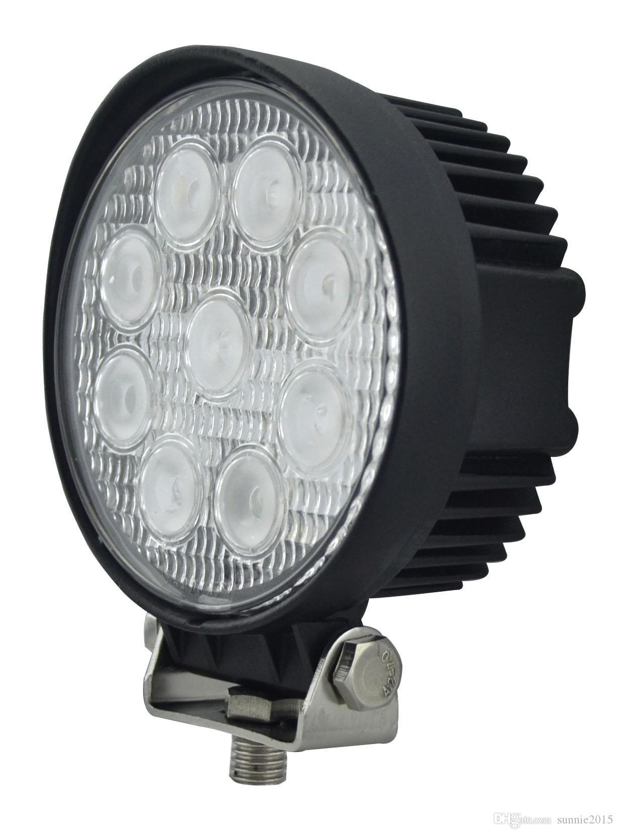 La meilleure vente autour de 4 pouces 27w a mené la lumière de travail IP68, faisceau de projecteurs / projecteurs, lumière de conduite menée pour camions, tracteur