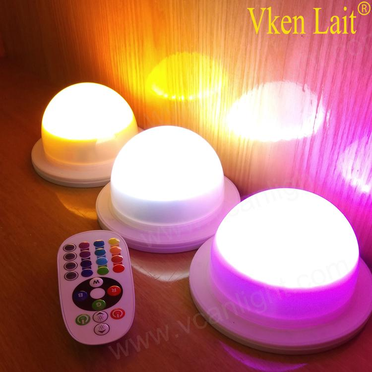 1*Waterproof LED Rechargeable Battery remote control for colorful Light UK STOCK