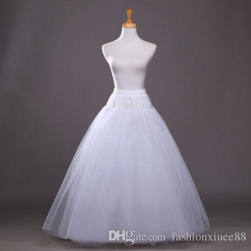 White Long Petticoat Vintage Crinoline Underskirt Slips Hoop Bridal Wedding Dress Skirt for Women Girl 2017