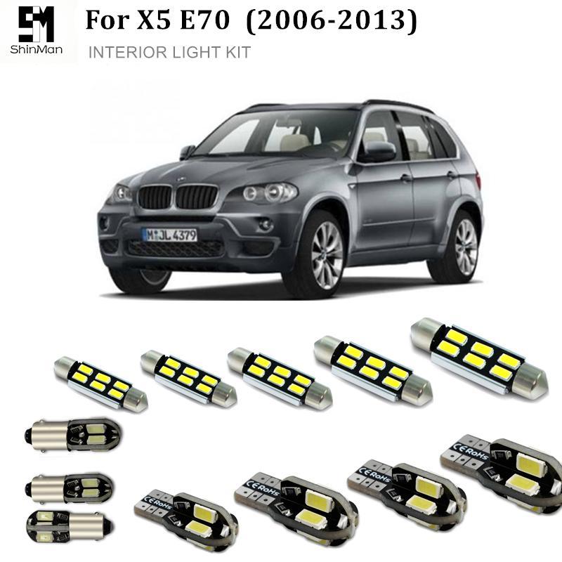 Shinman 20 adet ErrorFree Araba LED İç Işık Kiti BMW X5 E70 F15 Için oto Led Ampul aksesuarları 2006-2014 led iç aydınlatma