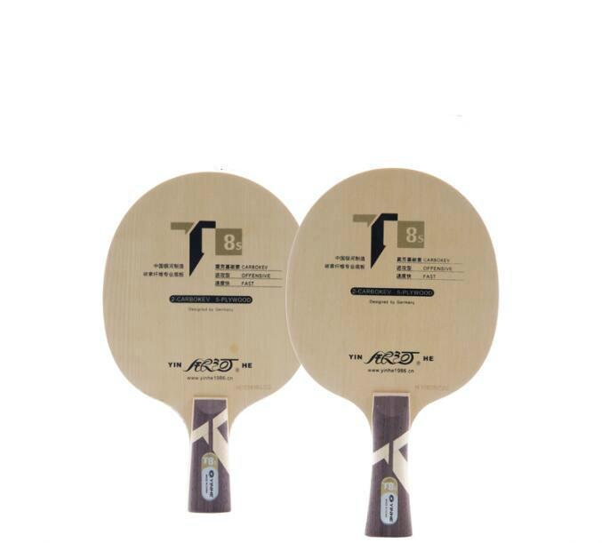 Ocio Deportes genuino Yinhe / T Galaxy -8S Mesa de ping pong hoja Boost (5Wood + 2Carbokev) de ping-pong de la raqueta de tenis de mesa Base Raquete Deportes