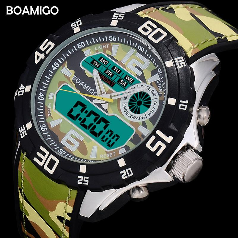 X BOAMIGO Hombres de la Marca Relojes de Moda de Goma Hombre Cuarzo Analógico Digital Militar Relojes de pulsera A Prueba de agua Relogio Masculino