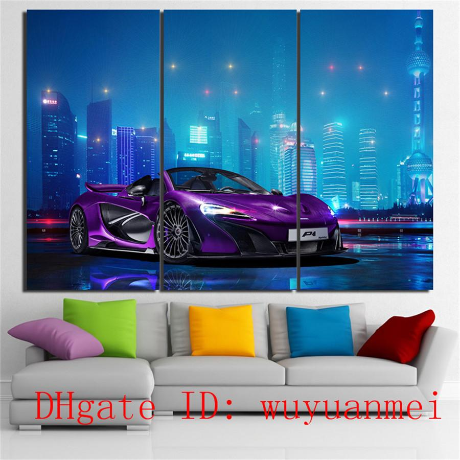 Mclaren Luxury Car , 3 Pieces Home Decor HD Printed Modern Art Painting on Canvas (Unframed/Framed)