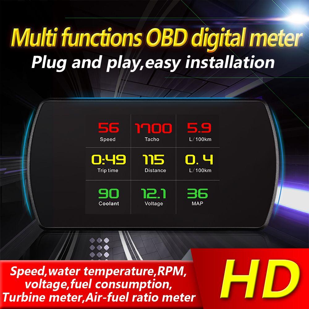 XYCING OBD Smart Digital Meter Head Up Display HD Car HUD OBD2 On-Board Diagnostic Digital Display Speedometer RPM Tacho Fuel