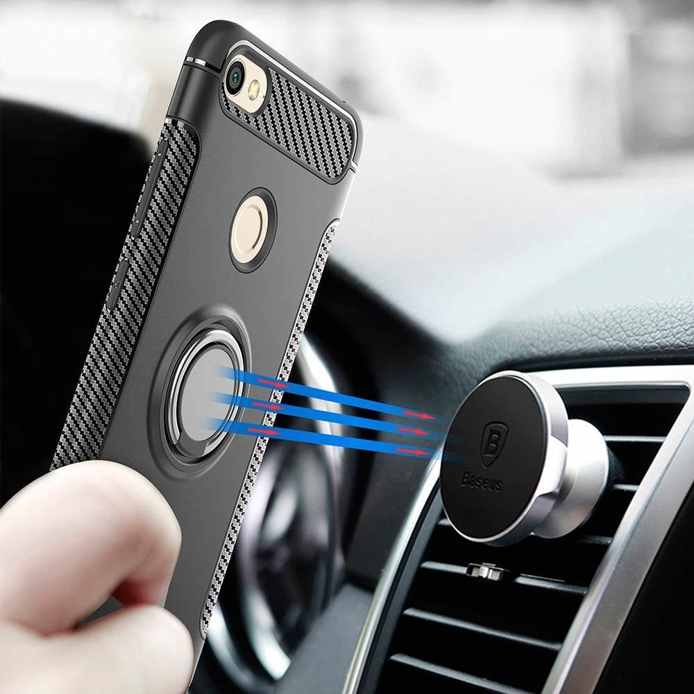Case for Xiaomi Redmi Note 5A Prime Car Holder Stand Magnetic Suction Bracket TPU + PC Cover for Redmi Y1 Lite back cover bags