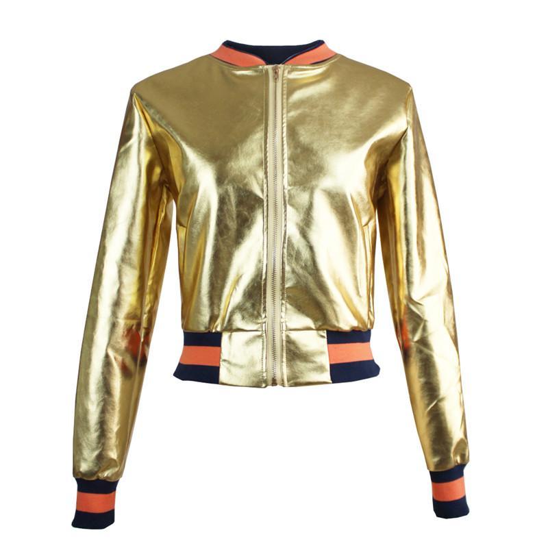 Mäntel Pu Leder Qualität Patchwork Cool Neue Frauen Großhandel Von Jacke Seitentasche Jacken Gute Damen Herbst Farbe Love10love Gold MSUpLqzjVG