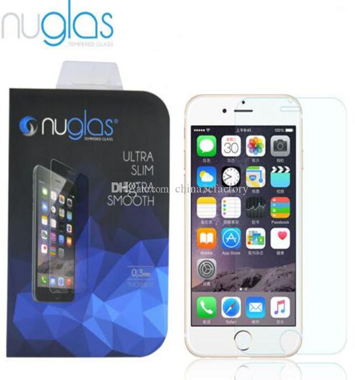 Original Nuglas Tempered Glass Screen Protector Guard for iPhone 7 8 Ultra-thin tempered glass for iphone 8 with retail box