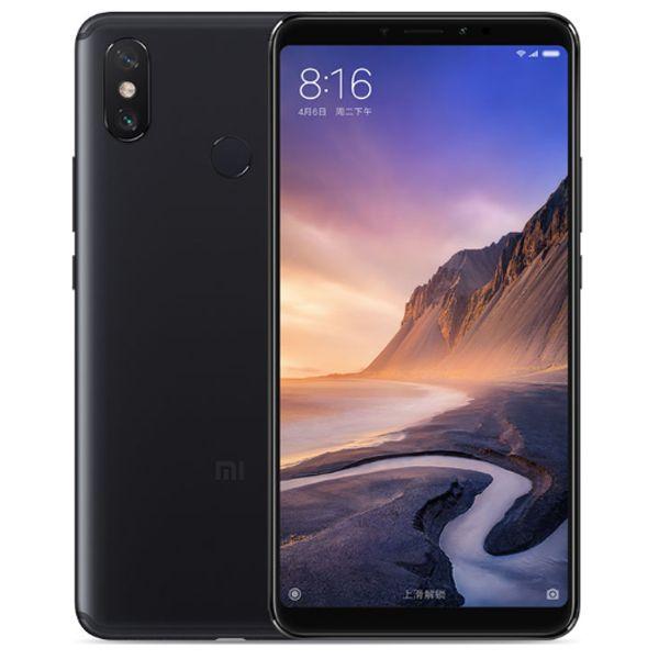 """الأصلي xiaomi mi max 3 4 جرام lte الهاتف الخليوي 6 جيجابايت رام 128 جيجابايت rom snapdragon 636 octa core android 6.9 """"ملء الشاشة 12.0MP ai بصمة المعرف الوجه 5500mAh الهاتف المحمول الذكي"""