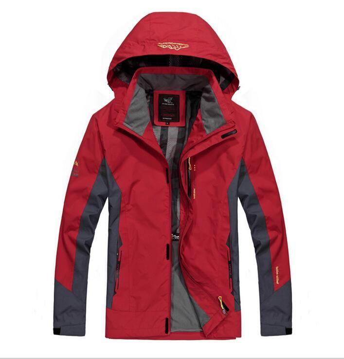 2018 водонепроницаемая куртка мужская ветровка дышащая куртка с капюшоном повседневная верхняя одежда для мужчин
