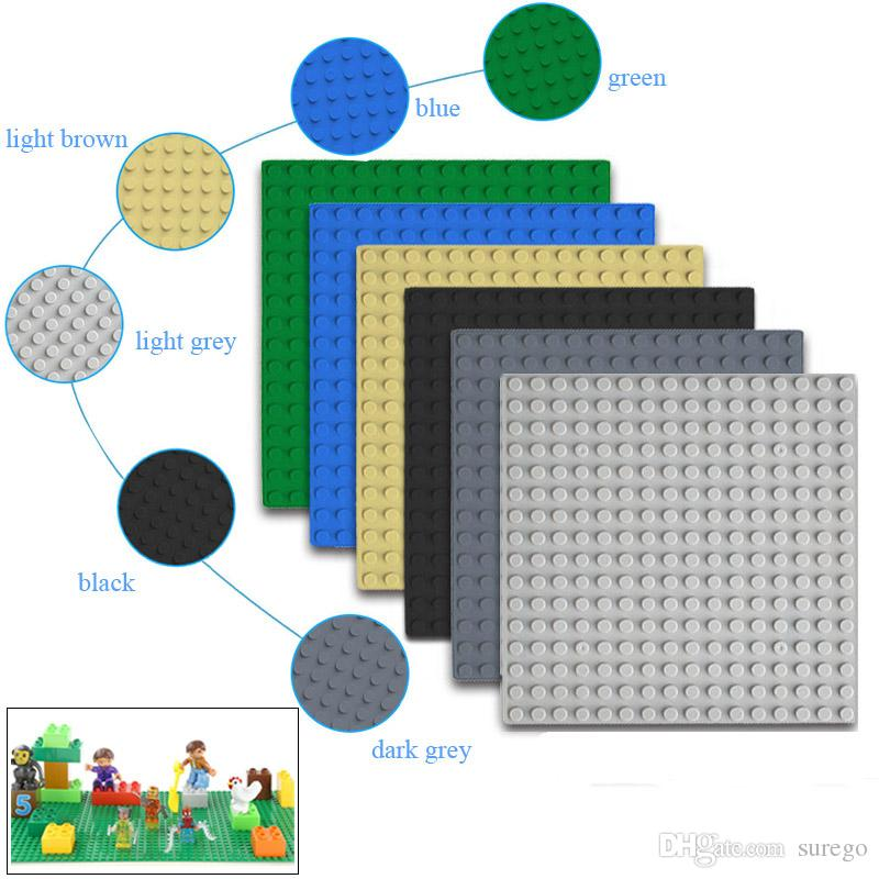 16x16 Baseplate for Toy Figure Dot Base Plate Large Size Big Baseplate Bottom Board for Figure DIY Building Block Toy