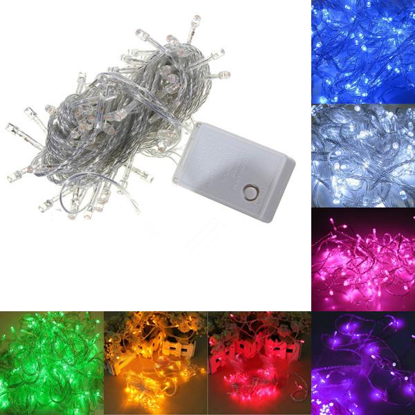 Holiday Sale Outdoor 10m 100 LED String Choice , Energy String Fairy Lights  Waterproof Party Christmas Garden Lights String Of Led Lights Red String
